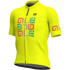 Alé Cycling Solid Mirror SS Jersey Men flou yellow